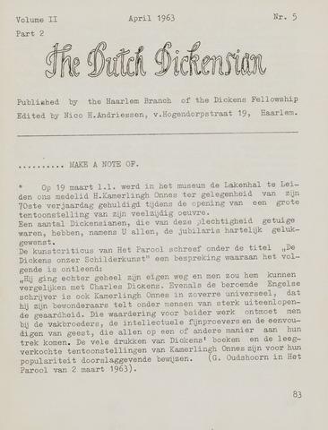 The Dutch Dickensian 1963