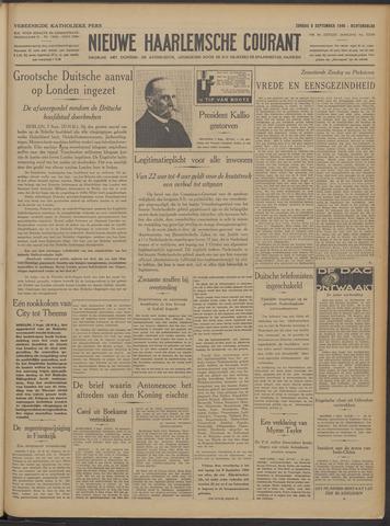Nieuwe Haarlemsche Courant 1940-09-08
