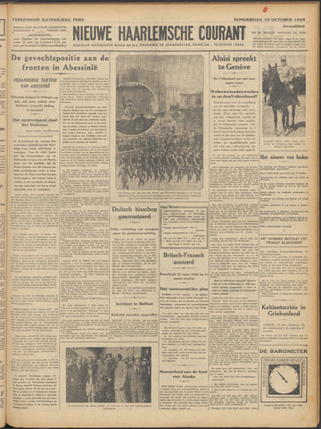 Nieuwe Haarlemsche Courant 1935-10-10