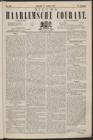 Nieuwe Haarlemsche Courant 1881-01-13
