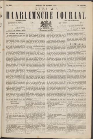 Nieuwe Haarlemsche Courant 1882-11-30