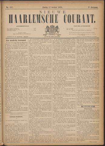 Nieuwe Haarlemsche Courant 1878-10-27