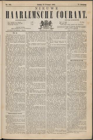 Nieuwe Haarlemsche Courant 1882-02-19