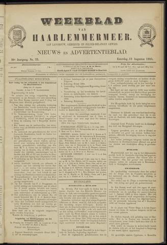 Weekblad van Haarlemmermeer 1885-08-15