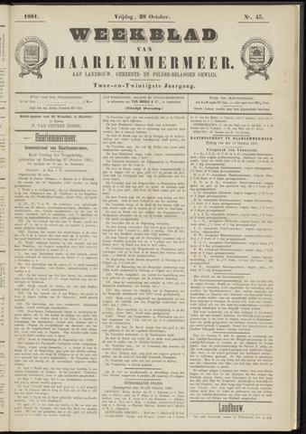Weekblad van Haarlemmermeer 1881-10-28
