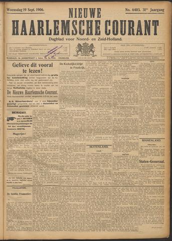 Nieuwe Haarlemsche Courant 1906-09-19