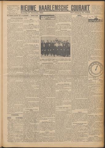 Nieuwe Haarlemsche Courant 1922-11-27