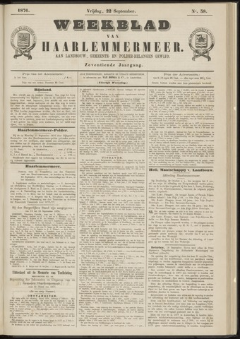 Weekblad van Haarlemmermeer 1876-09-22
