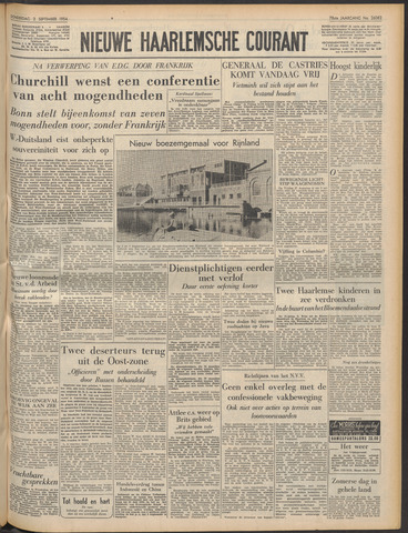 Nieuwe Haarlemsche Courant 1954-09-02