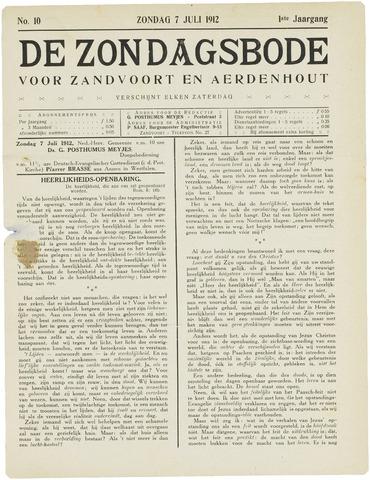 De Zondagsbode voor Zandvoort en Aerdenhout 1912-07-07