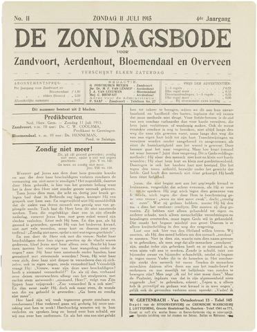 De Zondagsbode voor Zandvoort en Aerdenhout 1915-07-11