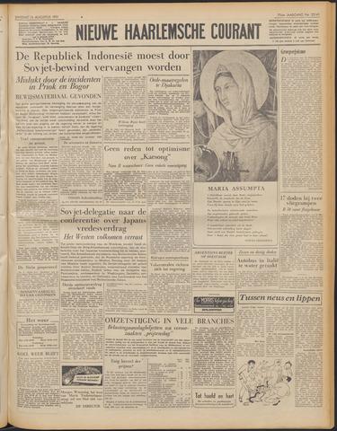 Nieuwe Haarlemsche Courant 1951-08-14