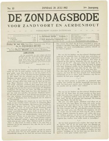 De Zondagsbode voor Zandvoort en Aerdenhout 1912-07-28
