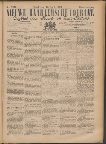 Nieuwe Haarlemsche Courant 1903-04-16