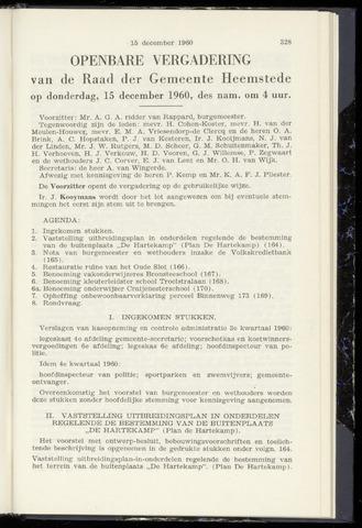 Raadsnotulen Heemstede 1960-12-15