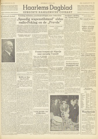 Haarlem's Dagblad 1954-06-01