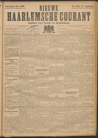Nieuwe Haarlemsche Courant 1906-10-13