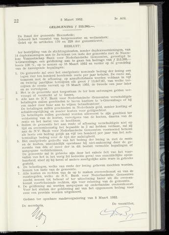 Raadsnotulen Heemstede 1952-03-05