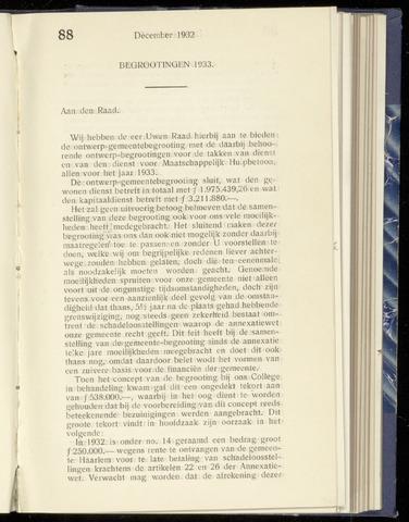 Raadsnotulen Heemstede 1932-12-15