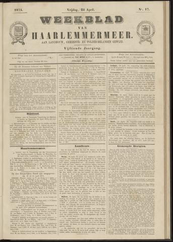 Weekblad van Haarlemmermeer 1874-04-24