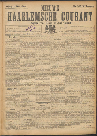 Nieuwe Haarlemsche Courant 1906-12-28