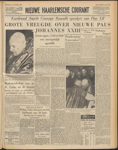 Nieuwe Haarlemsche Courant 1958-10-29