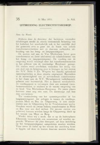 Raadsnotulen Heemstede 1951-05-31