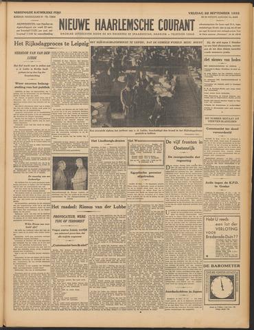 Nieuwe Haarlemsche Courant 1933-09-22