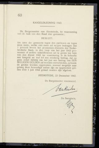 Raadsnotulen Heemstede 1942-12-23