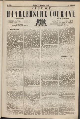 Nieuwe Haarlemsche Courant 1882-08-13