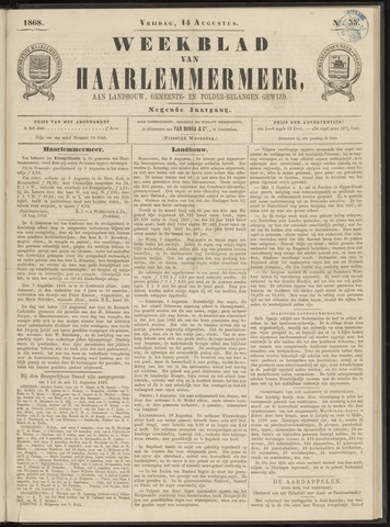 Weekblad van Haarlemmermeer 1868-08-14