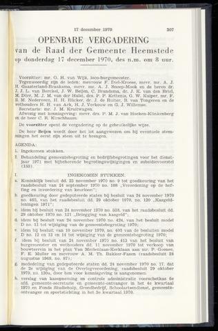 Raadsnotulen Heemstede 1970-12-17