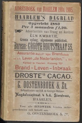 Adresboeken Haarlem 1904