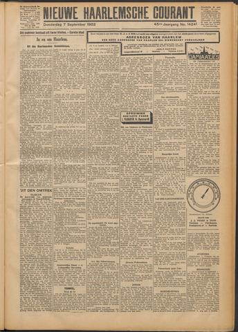 Nieuwe Haarlemsche Courant 1922-09-07