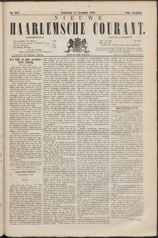 Nieuwe Haarlemsche Courant 1885-11-12