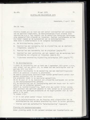 Raadsnotulen Heemstede 1979-05-30