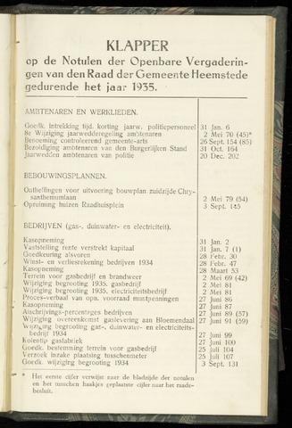 Raadsnotulen Heemstede 1935-01-01