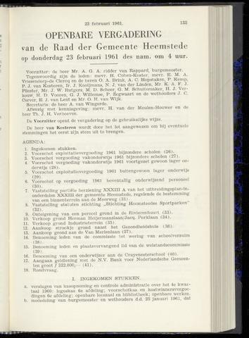 Raadsnotulen Heemstede 1961-02-23