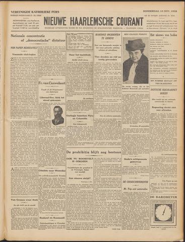Nieuwe Haarlemsche Courant 1932-11-10