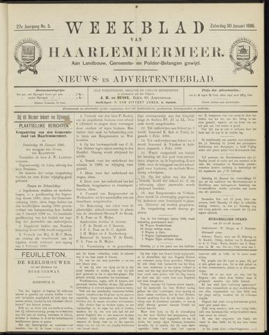Weekblad van Haarlemmermeer 1886-01-30