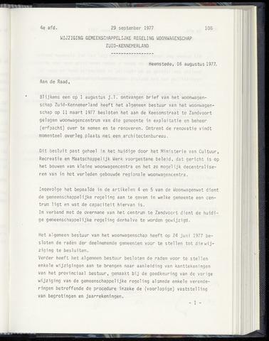 Raadsnotulen Heemstede 1977-09-29