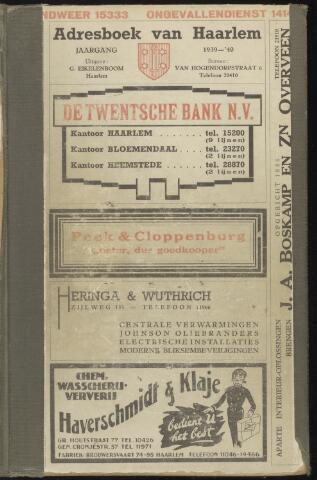 Adresboeken Haarlem 1939-01-01