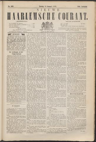 Nieuwe Haarlemsche Courant 1885-01-11