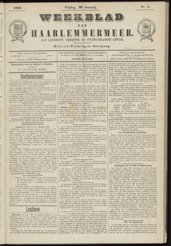 Weekblad van Haarlemmermeer 1882-01-20