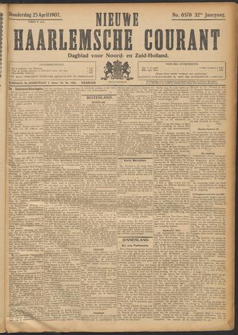 Nieuwe Haarlemsche Courant 1907-04-25