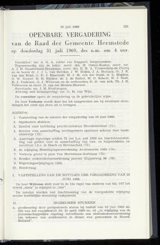 Raadsnotulen Heemstede 1969-07-31