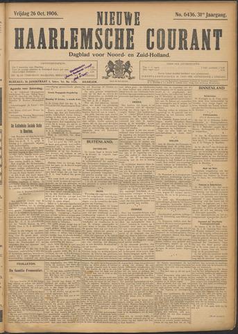 Nieuwe Haarlemsche Courant 1906-10-26