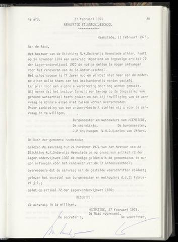 Raadsnotulen Heemstede 1975-02-27