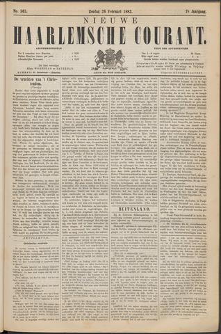Nieuwe Haarlemsche Courant 1882-02-26