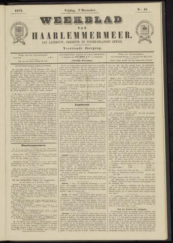 Weekblad van Haarlemmermeer 1873-11-07